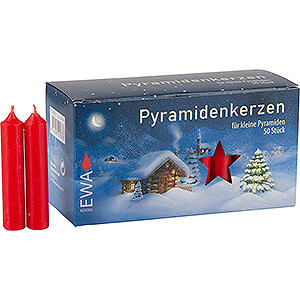 Lichterwelt Kerzen Hochwertige Pyramidenkerzen rot - 1,4 cm Durchmesser