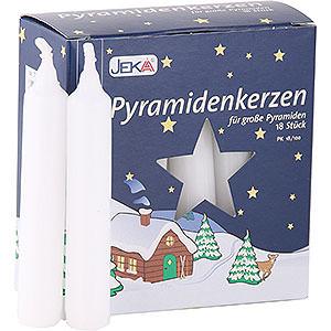Lichterwelt Kerzen Hochwertige Pyramidenkerzen weiß - 1,7 cm Durchmesser