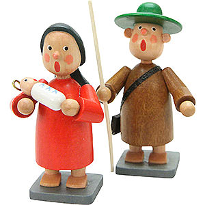 Small Figures & Ornaments Bengelchen (Ulbricht) Manger Figures Holy Family 2 pcs. - 7,0 cm / 3 inch