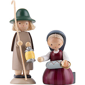 Small Figures & Ornaments Flade Flax Haired Children Holy Family - 5 cm / 2 inch