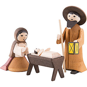 Nativity Figurines All Nativity Figurines Holy Family, Set of Three, Stained - 7 cm / 2.8 inch