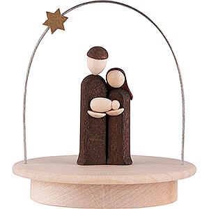 Small Figures & Ornaments Tröger Hand Nativity Holy Family with Star Arch - natural - 8,5 cm / 3.3 inch
