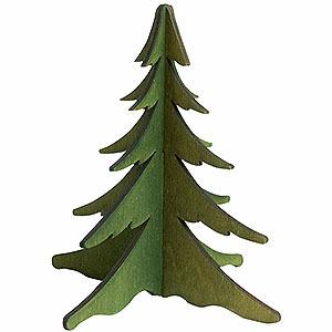 Schwibbögen Schwibbogen-Zubehör Holz-Steckbaum grün - 13 cm