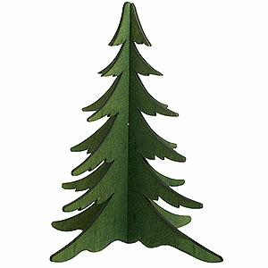 Schwibbögen Schwibbogen-Zubehör Holz-Steckbaum grün - 19 cm