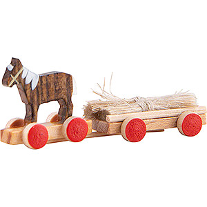 Small Figures & Ornaments Flade Flax Haired Children Horse Cart - 2 cm / 0.8 inch