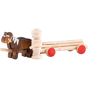 Angels Flade Flax Haired Angels Horse Cart with Timber - 2 cm / 0.8 inch