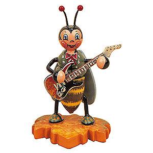 Kleine Figuren & Miniaturen Tiere Käfer Hummelmännchen mit E-Gitarre - 8 cm