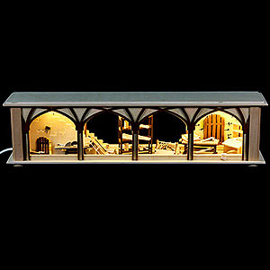 Specials Illuminated Stand Carpenter's Storage for Candle Arches - 50x12x10 cm / 20x5x4 inch