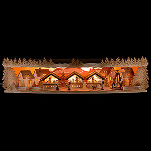 Candle Arches Illuminated Stands Illuminated Stand Christmas Market - 75x20x15 cm / 29.5x7.9x5.9 inch