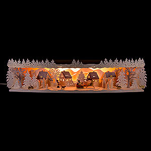 Candle Arches Illuminated Stands Illuminated Stand Reindeer Sleigh with Snow - 75x20x15 cm / 29.5x7.9x5.9 inch