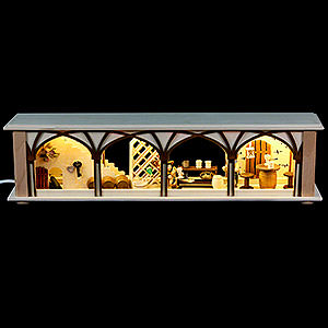 Candle Arches Illuminated Stands Illuminated Stand Wine Cellar for Candle Arches - 50x12x10 cm / 20x5x4 inch