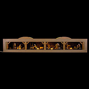Candle Arches All Candle Arches Illuminated Stand with Undergrund Mine and Lorry Pusher - 74x11,5 cm / 30x4.5 inch