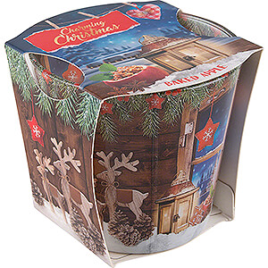 World of Light Candles JEKA Scented Candle - Charming Christmas - Baked Apple - 8,1 cm / 3.2 inch