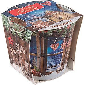 World of Light Candles JEKA Scented Candle - Charming Christmas - Gingerbread - 8,1 cm / 3.2 inch