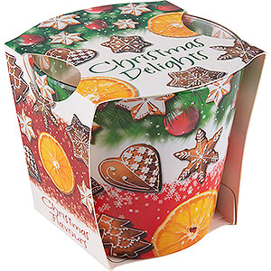 World of Light Candles JEKA Scented Candle - Christmas Flavours - Christmas Delights - 8,1 cm / 3.2 inch