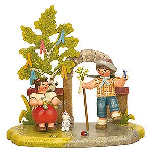 Kleine Figuren & Miniaturen Hubrig Vier Jahreszeiten Jahreszeit - Frühling - 13x12 cm