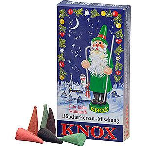 Räuchermänner Räucherkerzen KNOX Räucherkerzen Weihnachtsmischung (Weihrauch, Tanne, Sandel) - 24 Stück