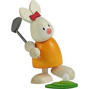 Geschenkideen Ostern Kaninchen Emma beim Golf - Abschlag - 9 cm