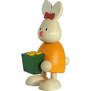 Kleine Figuren & Miniaturen Max & Emma (Hobler) Kaninchen Emma mit Geschenk - 9 cm