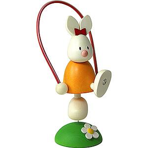 Geschenkideen Ostern Kaninchen Emma mit Springseil - 7 cm