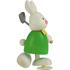Kleine Figuren & Miniaturen Max & Emma (Hobler) Kaninchen Max beim Golf - Abschlag - 9 cm