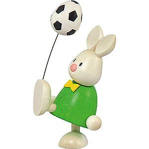 Kleine Figuren & Miniaturen Max & Emma (Hobler) Kaninchen Max mit Fußball - 9 cm