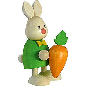 Kleine Figuren & Miniaturen Max & Emma (Hobler) Kaninchen Max mit großer Möhre - 9 cm