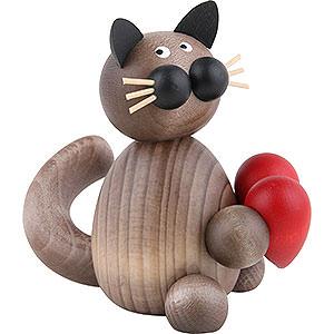 Kleine Figuren & Miniaturen Tiere Katzen Katze Karli mit Herz - 8 cm
