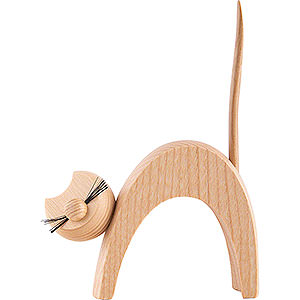 Kleine Figuren & Miniaturen Tiere Katzen Katze natur - stehend  - 13 cm