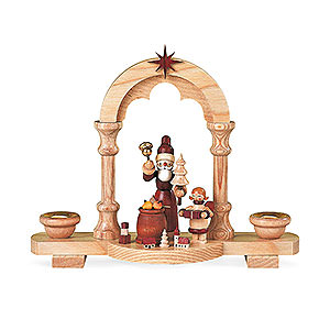 Lichterwelt Kerzenhalter Weihnachtsmann Kerzenhalter Bescherung - 18 cm