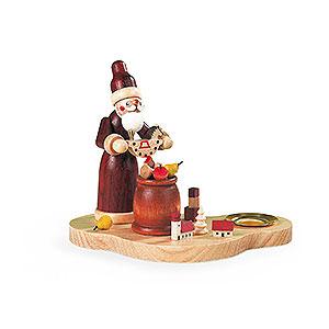 Lichterwelt Kerzenhalter Weihnachtsmann Kerzenhalter Bescherung - 9 cm