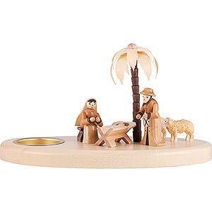 Lichterwelt Kerzenhalter Christi Geburt Kerzenhalter Krippe - 11 cm