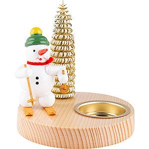 Lichterwelt Kerzenhalter Sonstige Kerzenhalter Schneemann mit Schneeschuh - 10 cm