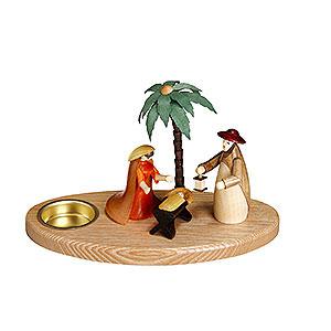 Lichterwelt Kerzenhalter Christi Geburt Kerzenhalter Weihnachtskrippe - 12 cm