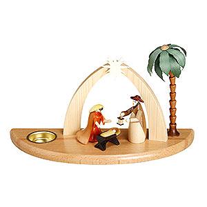 Lichterwelt Kerzenhalter Christi Geburt Kerzenhalter Weihnachtskrippe - 17 cm