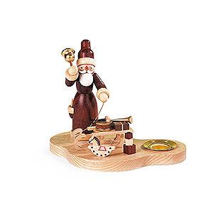 Lichterwelt Kerzenhalter Weihnachtsmann Kerzenhalter Weihnachtsmann mit Schlitten - 9 cm