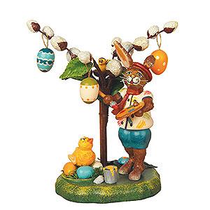 Kleine Figuren & Miniaturen Tiere Hasen Knickohr's Weidenstrauch - 11 cm