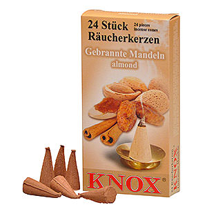 Smokers Incense Cones Knox Incense Cones - Almond