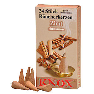 Smokers Incense Cones Knox Incense Cones - Cinnamon