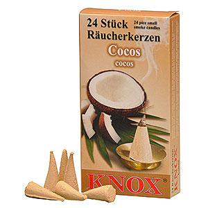 Smokers Incense Cones Knox Incense Cones - Coconut
