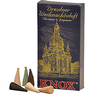 Smokers Incense Cones Knox Incense Cones - Dresden Christmas Fragrance Mix