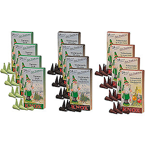 Smokers Incense Cones Knox Incense Cones - Mega set - 3x4 boxes with the most famous Knox fragrances