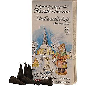 Smokers Incense Cones Knox Incense Cones - Original Ore Mountain Incense Cones - Christmas Scent