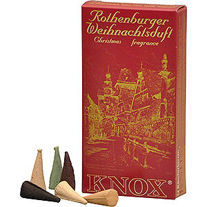 Smokers Incense Cones Knox Incense Cones - Rothenburg Christmas Fragrance Mix