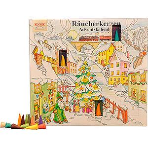 Räuchermänner Räucherkerzen Knox Räucherkerzen-Adventskalender - Motiv 2019 - 24 cm