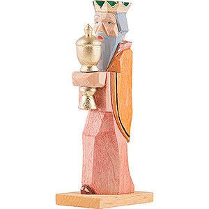 Kleine Figuren & Miniaturen Krippen König mit gelben Umhang - 6,8 cm