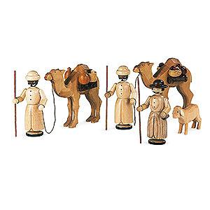 Kleine Figuren & Miniaturen Krippen Krippenfiguren - Kamelkarawane - 13 cm