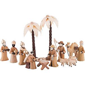 Kleine Figuren & Miniaturen Krippen Krippenfiguren Set - 14 teilig