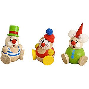Kleine Figuren & Miniaturen Kugelfiguren (Seiffener Vk.) Kugelfiguren Clowny - 3-tlg. - 6 cm