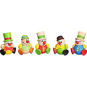 Kleine Figuren & Miniaturen Kugelfiguren (Seiffener Vk.) Kugelfiguren Clowny - 5-tlg. - 4 cm